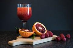 Früchte und Saft Stockfoto