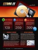 Fördernde Broschüre der Festplatte Lizenzfreie Stockfotografie