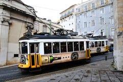 Förderwagen in Lissabon Stockfotografie