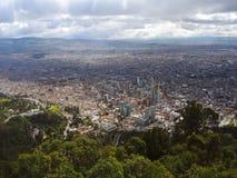 Fördjupad sikt av Bogota, Colombia Fotografering för Bildbyråer