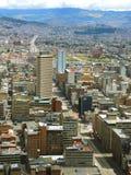 Fördjupad sikt av Bogota, Colombia Arkivbilder