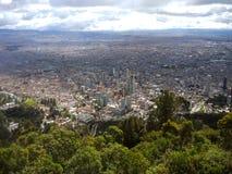 Fördjupad sikt av Bogota, Colombia Arkivfoto