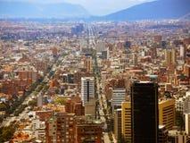 Fördjupad sikt av Bogota, Colombia Arkivfoton