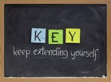 fördjupande keepmotivation för akronym dig Arkivbild