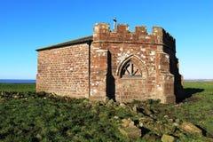 Fördärvar av den Cockersands abbotskloster, Lancashire, England Arkivbilder