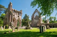 Fördärvar av den Dryburgh abbotskloster, Skottland Fotografering för Bildbyråer