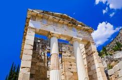 Fördärvar av den forntida staden Delphi, Grekland Royaltyfri Fotografi