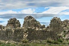Fördärvar av en mongolisk fästning Arkivfoton