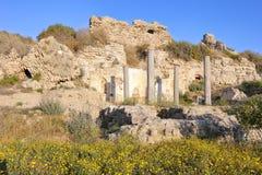 Fördärvar av ett forntida tempel Royaltyfri Fotografi