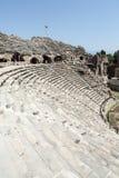 Fördärvar av forntida romersk amfiteater i sida Royaltyfria Bilder