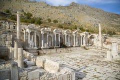 Fördärvar av forntida stad Royaltyfri Foto