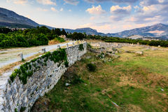 Fördärvar av forntida Town av Salona Arkivfoton