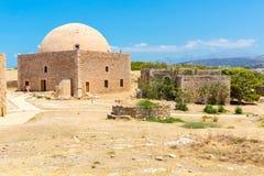 Fördärvar av gammal stad i Rethymno, Kreta, Grekland. Royaltyfri Foto