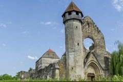 Fördärvar av medeltida cistercian abbotskloster i Transylvania Arkivbild