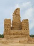 Fördärvar den forntida staden av Jiaohe i Kina Arkivfoton