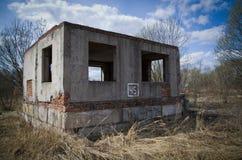 fördärvat hus Fotografering för Bildbyråer