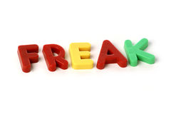 Freak. Spelled out Royalty Free Stock Photography