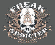 Freak Addicted. A vector T-shirt design titled - Freak Addicted Royalty Free Stock Photo