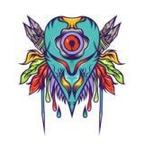 Freak blue monster art design Stock Images
