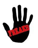 Freak di Handprint Fotografia Stock