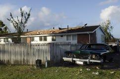 Freak Tornado in Auckland, New Zealand Stock Photos