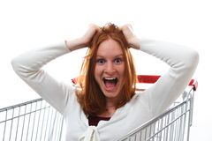 Freaked Out About Shopping Royalty Free Stock Photo