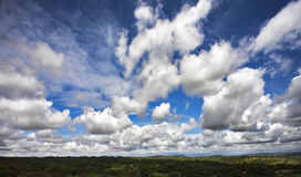 The freakish clouds Royalty Free Stock Images