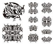 Freakish dragon symbols Royalty Free Stock Photography