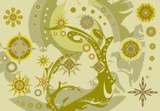 Freakish golden autumn background Stock Images