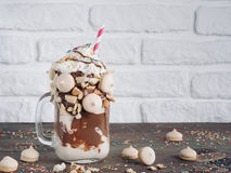 Freakshake with copy space Royalty Free Stock Image