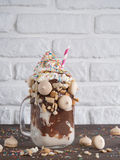 Freakshake with copy space Stock Photography