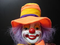 Freaky clown Stock Images