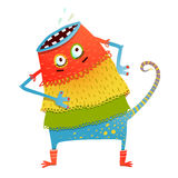 Freaky creature monster in dress Stock Photos