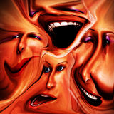 Freaky Female Emotions 16 stock illustration