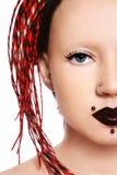 Freaky Mädchen lizenzfreie stockbilder
