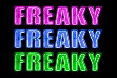 Freaky neon Logo Sign Arkivbild