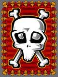 freaky skalle för färg Royaltyfri Foto