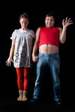 Freaky young couple Royalty Free Stock Photos