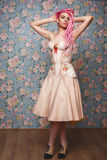 Freaky young female model wearing corset Royalty Free Stock Photo