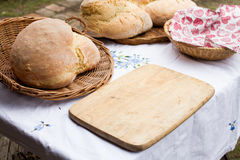 Freash bread on the table Stock Image