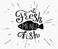 Freash fish menu Stock Images