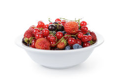 Freash garden berries in bowl Stock Photos