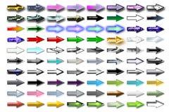 Frecce 09 dell'illustrazione Immagini Stock