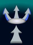 frecce 3 + 1 illustrazione di stock