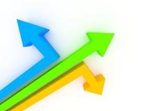 frecce 3d nei sensi differenti illustrazione di stock