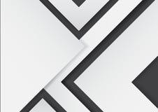 Frecce bianche astratte su fondo nero con stile di carta di arte Immagine Stock Libera da Diritti