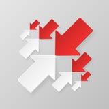 Frecce bianche e rosse Fotografia Stock