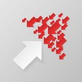 Frecce bianche e rosse Fotografia Stock Libera da Diritti