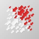 Frecce bianche e rosse Immagine Stock