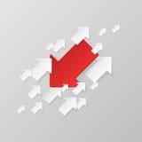 Frecce bianche e rosse Immagine Stock Libera da Diritti